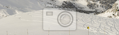 Snowboard Freeride Trails Panorama