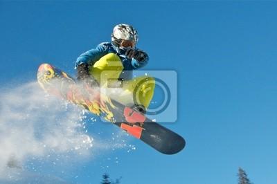 Poster Snowboard Kid springt