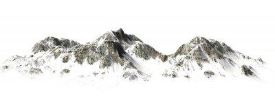 Poster Snowy Mountains - Berggipfel - auf weißem Hintergrund getrennt