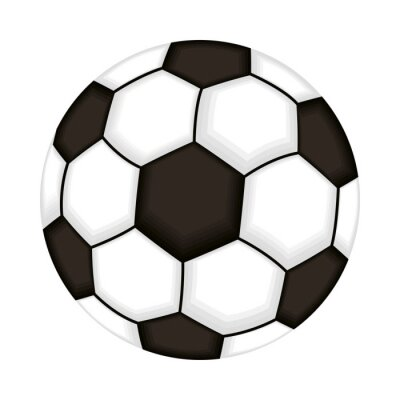 Poster soccer balloon sport isolated icon