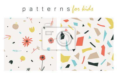 Soft colored lovely patterns for childrens.