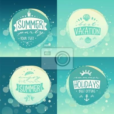 Sommer-Ferien-Konzept Schild, Vektor-Illustration