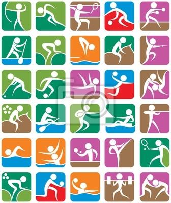 Sommer-Sport Symbole - Bunte