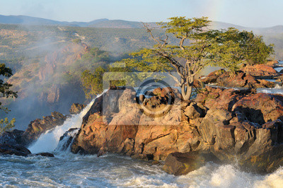 Sonnenaufgang am Ruacana Wasserfall, Namibia