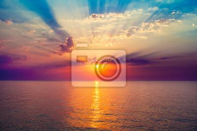 Poster Sonnenaufgang im Meer