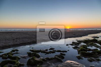 Sonnenuntergang über dem Meer in Playa Santana, Nicaragua