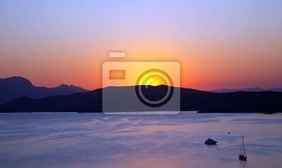Sonnenuntergang über der Ägäis, Griechenland, 2009