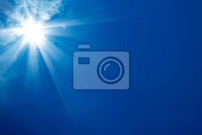 Poster Sonnigen blauen Himmel
