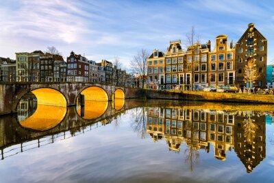 Sonnigen Morgen in Amsterdam, Niederlande