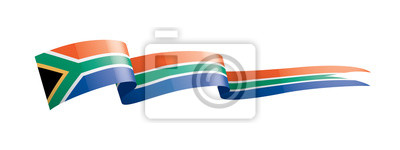 Poster south africa flag, vector illustration on a white background