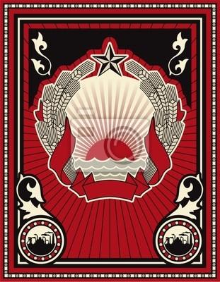 Sowjetischen Stil Poster
