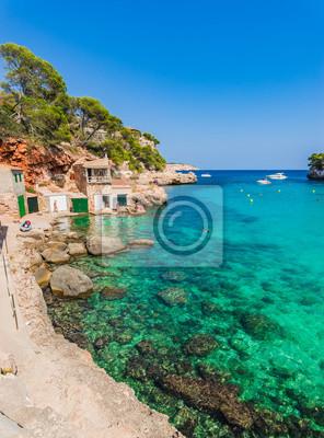 Spanien Mallorca Strand Bucht Cala Llombards Wandposter Poster