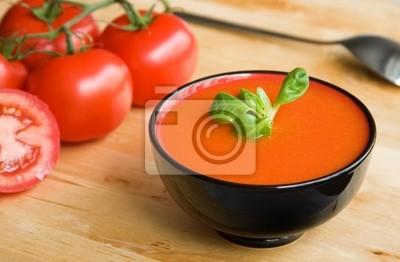 Spanisch kalte Tomaten- Suppe Gazpacho