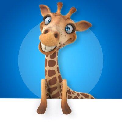 Poster Spaß-Giraffe