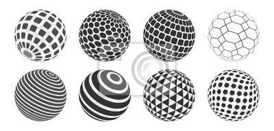 Poster Sphere Vector Set
