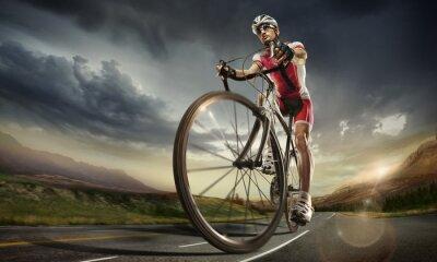 Poster Sport. Straßenradfahrer.