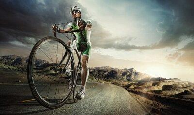 Poster Sport. Straßenradfahrer