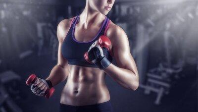 Poster Sportliche Mädchen