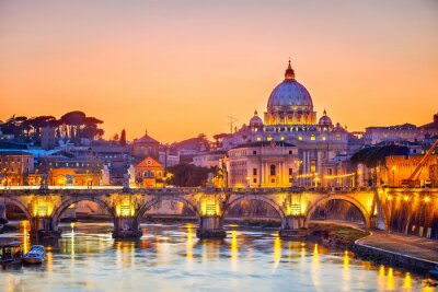 St. Peter-Kathedrale in der Nacht, Rom