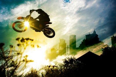 Poster Stadt Dirt Bike Jump