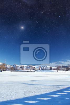 Stadt Winternacht. Elemente dieses Bildes von NAS eingerichtet