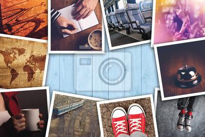 Poster Städtische Jugend-Lifestyle-Foto-Collage