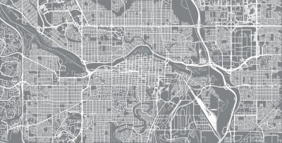 Poster Städtischer Vektor Stadtplan von Calgary, Kanada