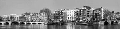 Stadtleben im Stadtzentrum von Amsterdam