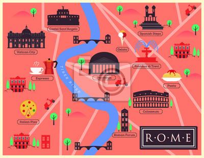 Stadtplan Illustration von Rom