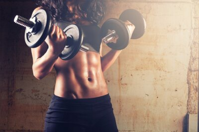 Poster Starker Körper workout
