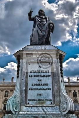 Statue de Stanislas Leszczynski à Nancy en Lorraine