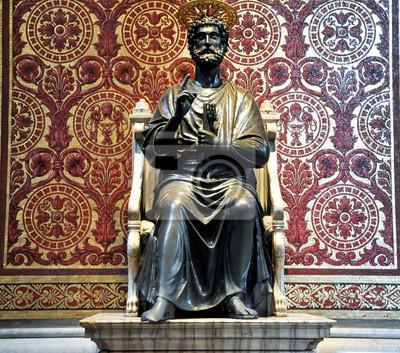 Statue von St. Peter. Vatikan.