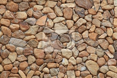 Stein Brick Wall aus Steinen Fragment in unregelmäßigen Formen