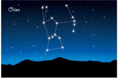 Poster Sternbild Orion