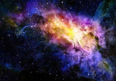 Poster Sternenhimmel tiefen Weltraum nebual und Galaxien