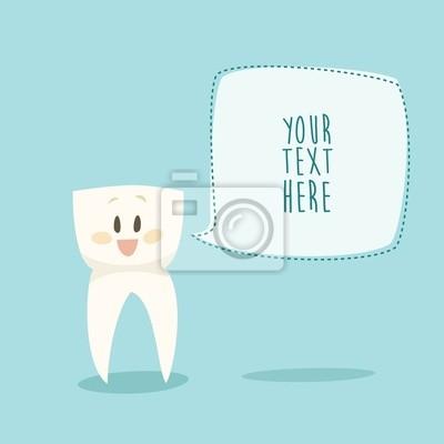 stomatologist Schild lustig Zahn Vektor-Illustration