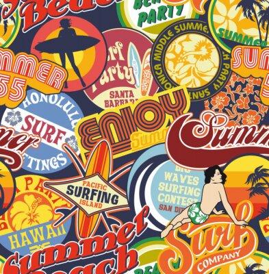 Strand vintage Pins nahtlose Muster