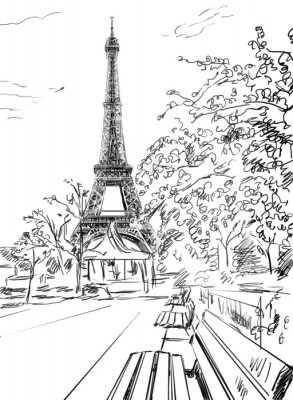 Poster Straße in Paris.
