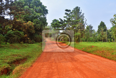 Straße in Uganda, Afrika