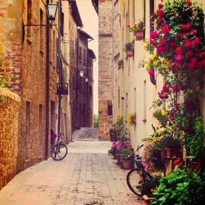 Poster street in Pienza