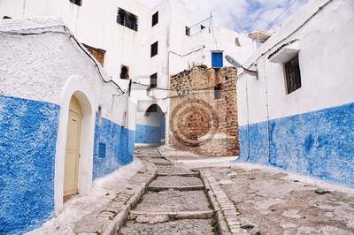 Streets of Kasbah des Udayas in Rabat, Marokko