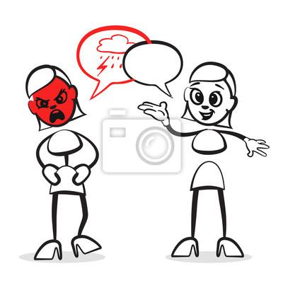 Strichmännchen serie emotionen - coaching wandposter • poster ...