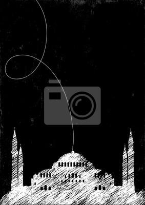Strichzeichnung der Moschee