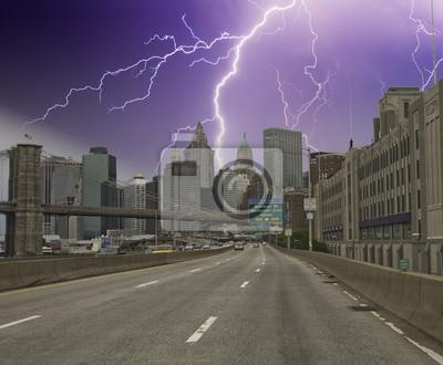 Sturm über New York City Wolkenkratzer