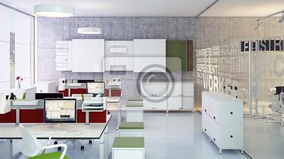 Stylische büro minimalistiches büro minimalistische büro