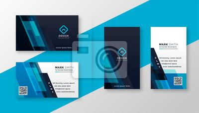 Poster stylish blue elegant business card design