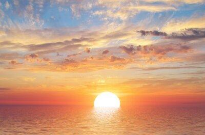Poster Summer sky background on sunset
