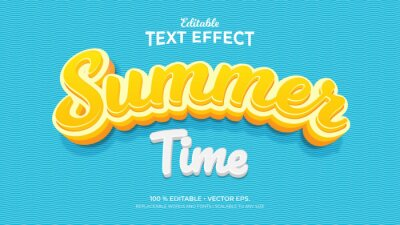 Poster Summer Time 3d Style Editable Text Effects