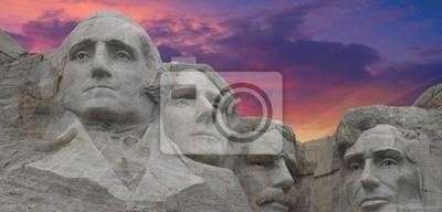 Sunset Farben über Mount Rushmore