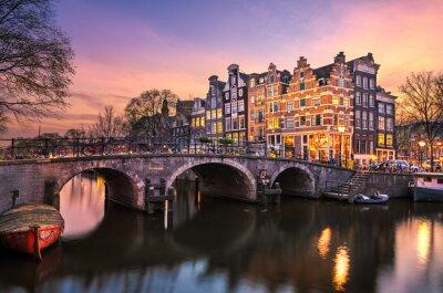 Sunset in Amsterdam, Netherlands